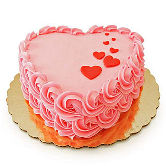 Floating Hearts Cake 3kg Chocolate