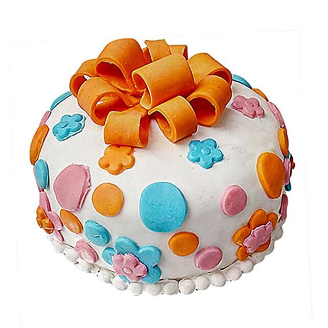 Fondant Baby Bash Cake Half Kg Vanilla Eggless