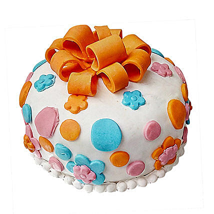 Send gift for new mom online with free shipping from ferns n petals fondant baby bash cake gifts for new mom negle Image collections