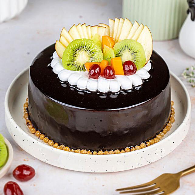 Fruit Chocolate Cake Half kg Eggless
