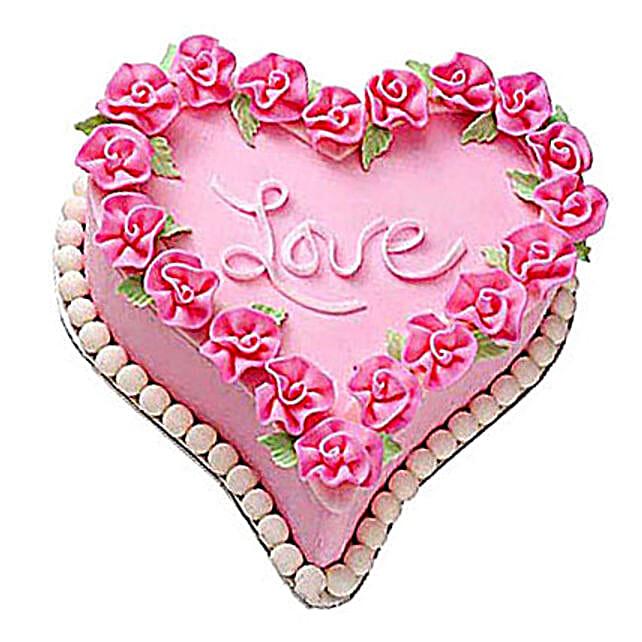 Gift A Heart Cake 4kg Eggless