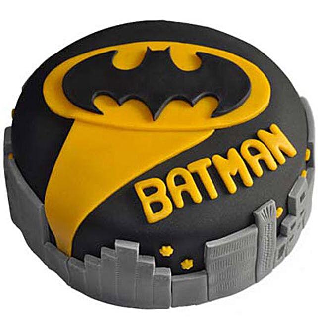 Glitzyy Batman City Cake 3kg Eggless