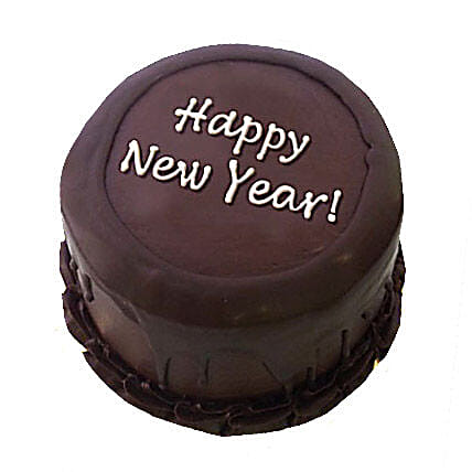 Happy New Year Chocolate Cake 3kg Eggless