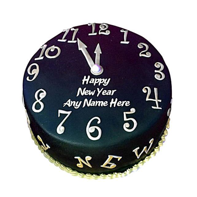 Happy New Year Countdown Fondant Cake 1kg