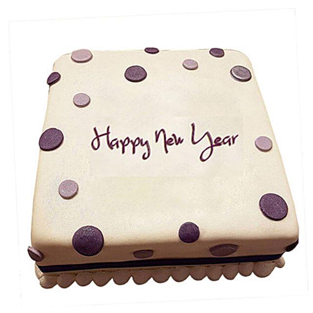 Happy New Year Fondant Cake 1kg Eggless