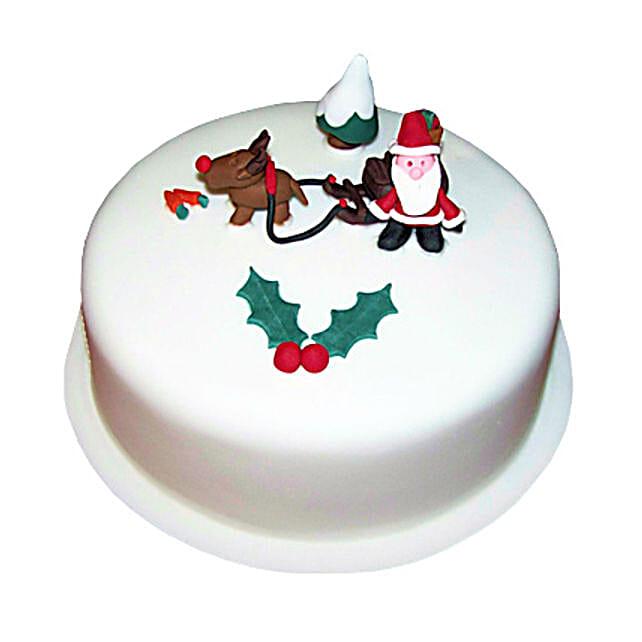 Happy Santa Christmas Cake 1kg Eggless