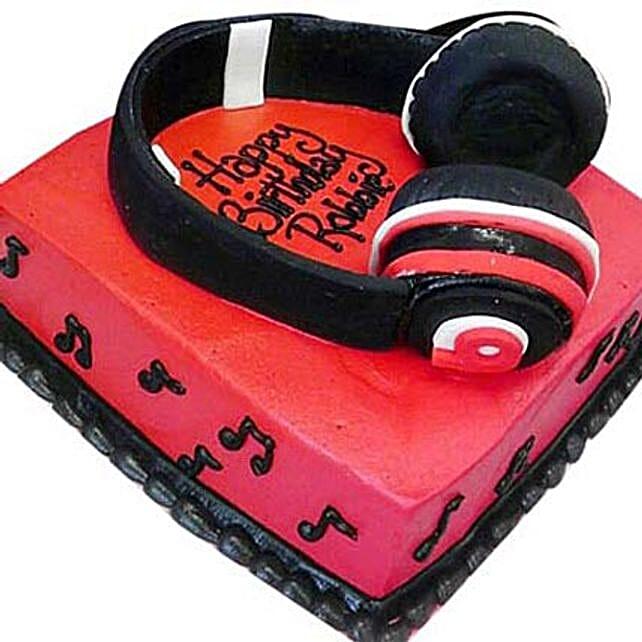 Headphone Shape Cake 3Kg Eggless Chocolate