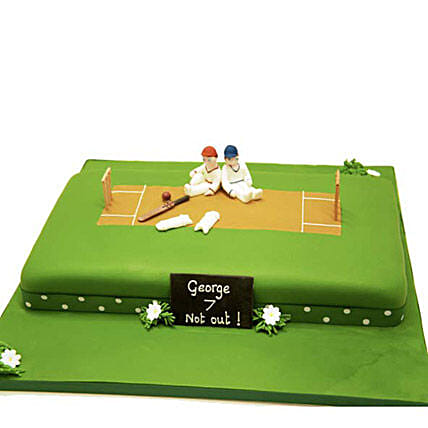 Heavenly Delights Cricket Cake 3kg Vanilla Eggless