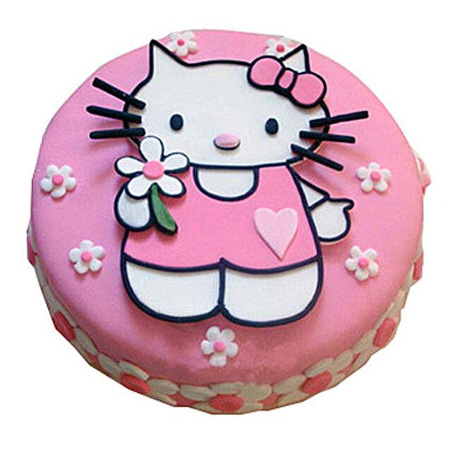 Hello Kitty Birthday Cake 3kg Vanilla Eggless