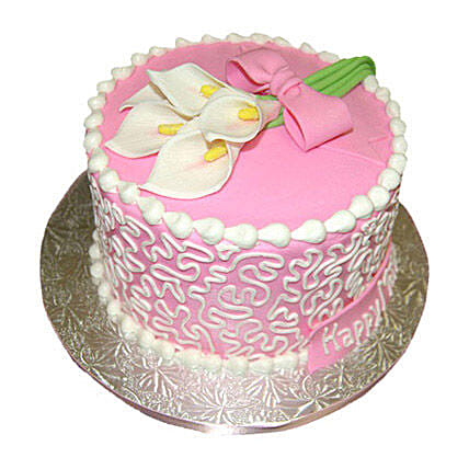 Lily Cake 3kg Vanilla Eggless