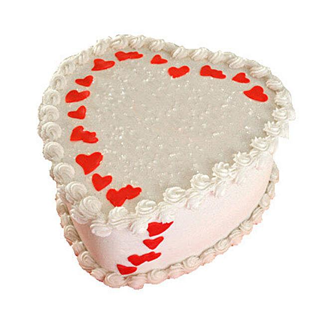 Lovely Heart Shape Cake Half kg Chocolate Eggless