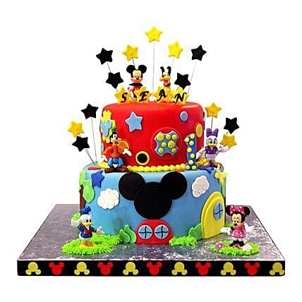 Mickey Mouse Clubhouse Cake 3kg Eggless