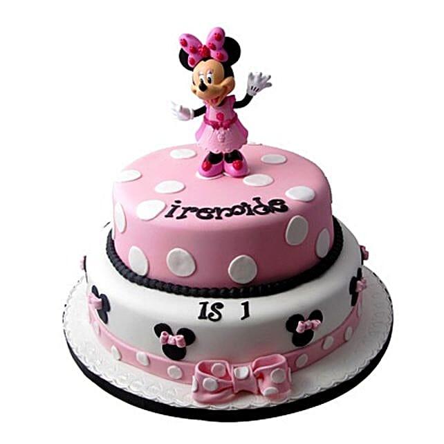 Minnie Mouse Birthday Cake 3kg Eggless