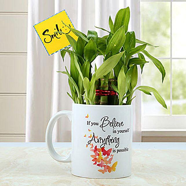 Mug with Bamboo Plant