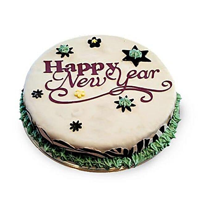 New Year Fondant Cake 2kg Eggless