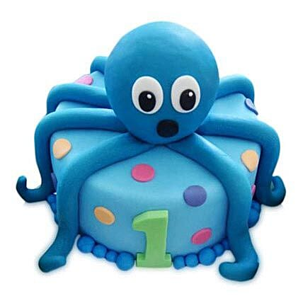 Octopus Cake 2Kg Eggless Chocolate