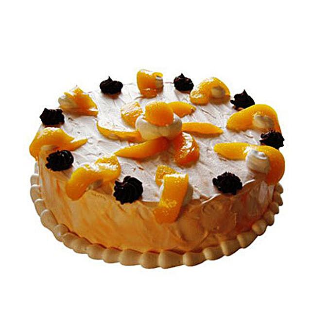 Orange Trickle Cake 1kg Eggless