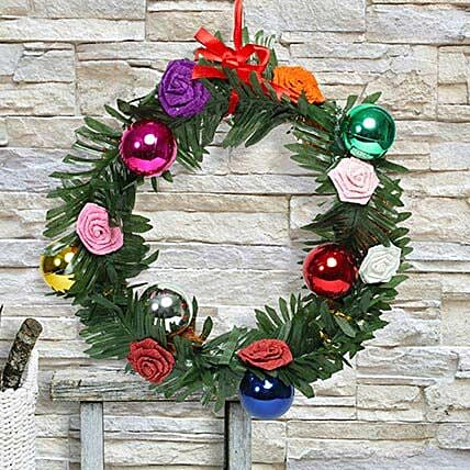 Paper flower christmas wreath gift wreath of artificial leaves paper flower christmas wreath mightylinksfo