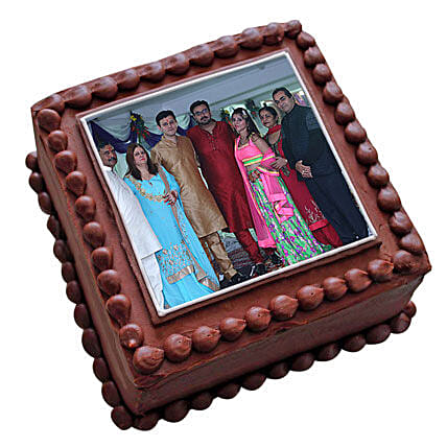 Photo Square Chocolate Cake 3kg Eggless