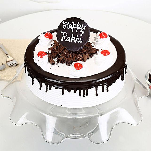 Rakhi with Blackforest Cake 1kg eggless