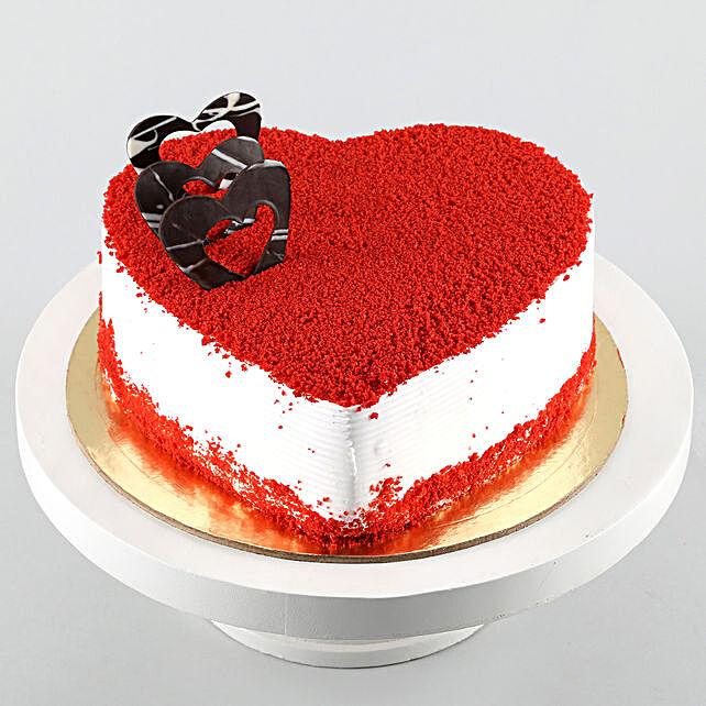 Red Velvet Heart Cake 3kg Eggless