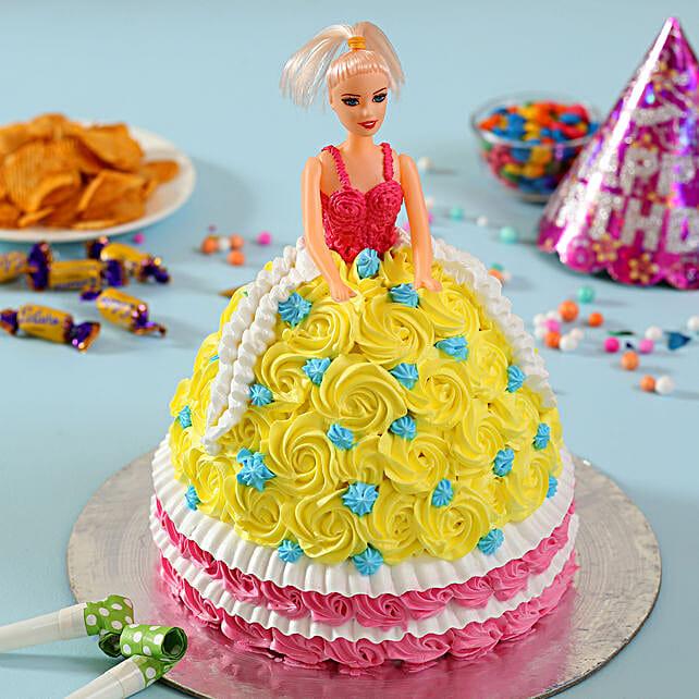 Rosy Barbie Cake Cakes