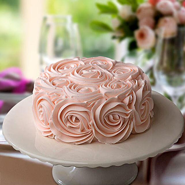 Rosy Pink Choco Cake Half Kg Eggless