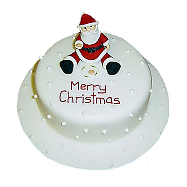 Santa Christmas Cake 3kg Eggless