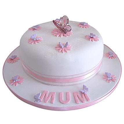 Simple and Sweet Love Mom Cake 2kg Eggless Vanilla