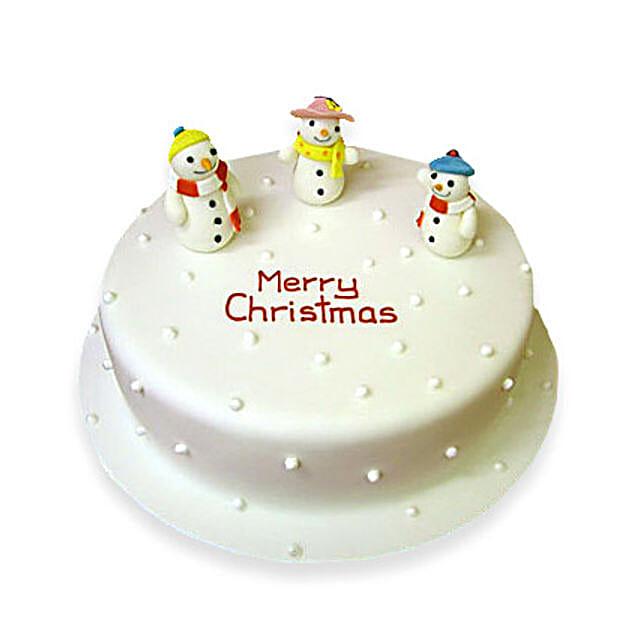 Snowy Christmas Cake 2kg Eggless