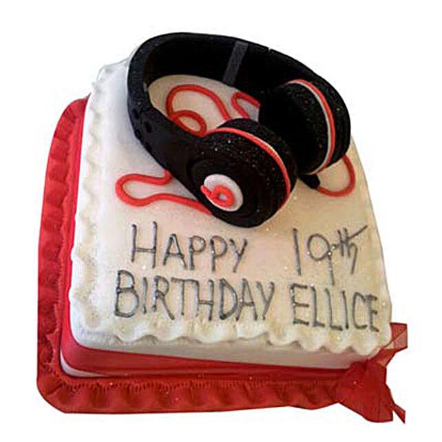 Softy Headphone Cake 3Kg Eggless Chocolate