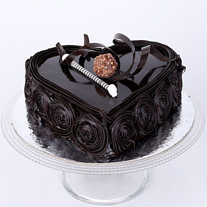 Special Heart Chocolate Cake 2kg Eggless