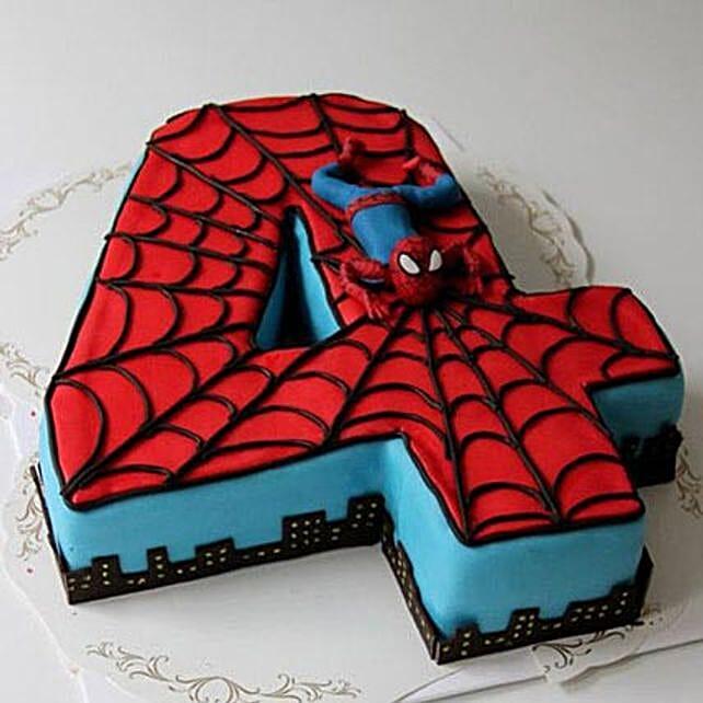 Spiderman Birthday Cake 4Kg Black Forest Gift Siperman design