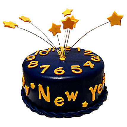 Starry New Year Cake 3kg Eggless