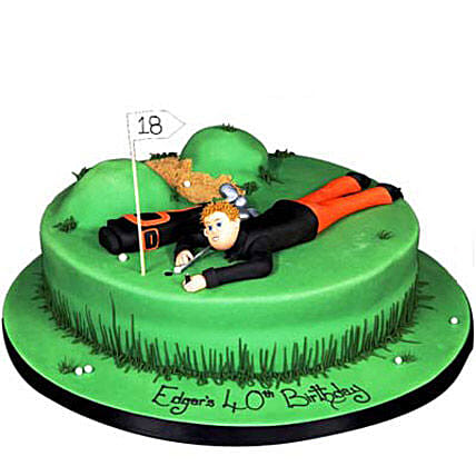 Stunning Golf Course Cake 3Kg Eggless Chocolate