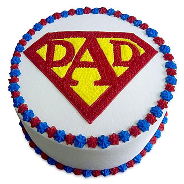 Super Cake For A Super Dad 2kg Vanilla Eggless