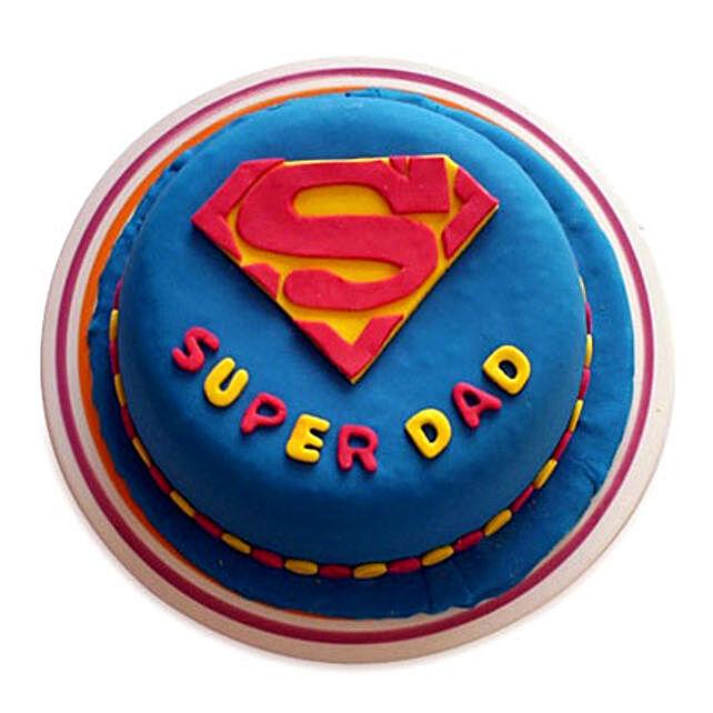 Super Dad Designer Cake 3kg Vanilla Eggless