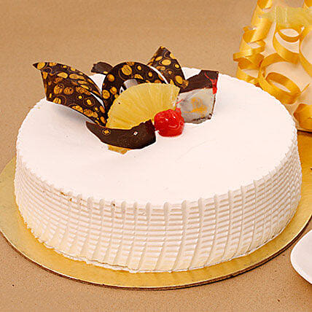 Tangy N Tasty Pineapple Cake Half KG Eggless