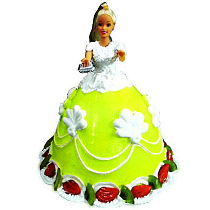 The Lovely Barbie Cake 2kg Chocolate Eggless