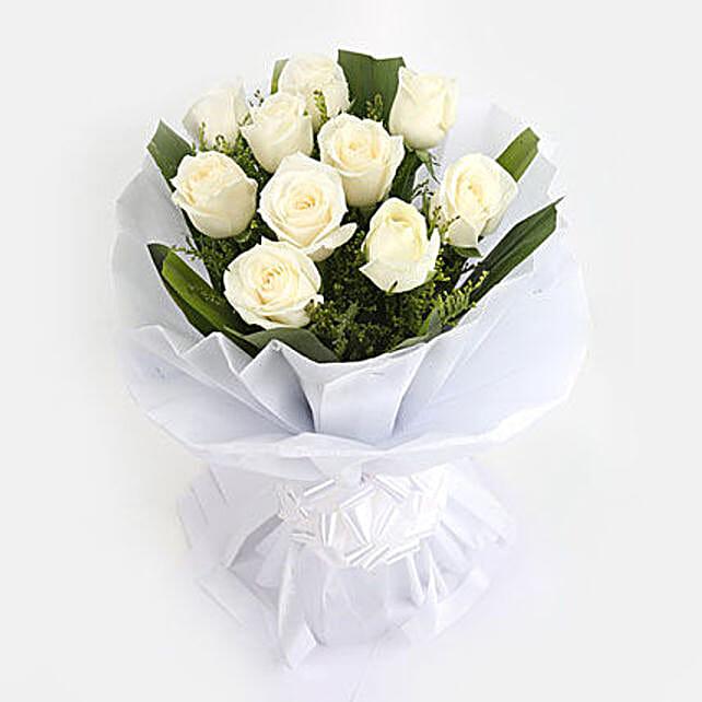 White roses bunch gift white roses bunch bunch of 10 white roses white roses bunch mightylinksfo