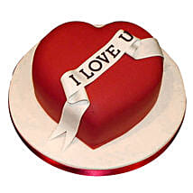 Red Heart love you Valentine cake: Propose Day Cakes