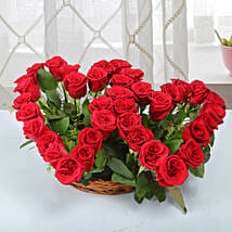 Twin Heart Arrangement: Flowers For Valentines Day