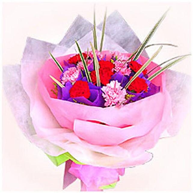 Graceful Carnations Bouquet