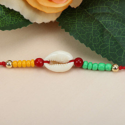 Sea Shell Charm Rakhi MAL