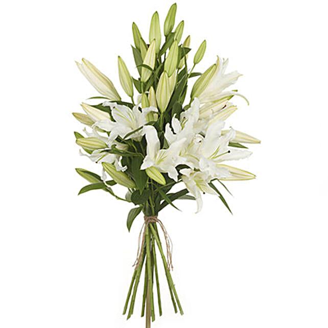 Pristine White Lilies