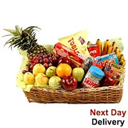 Food Hamper With Fruits nwy