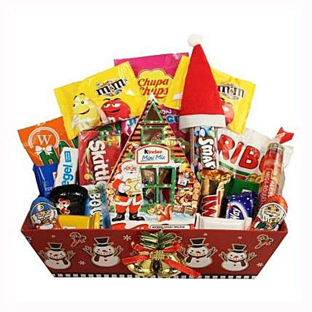 Christmas Retro Sweet Gift Basket
