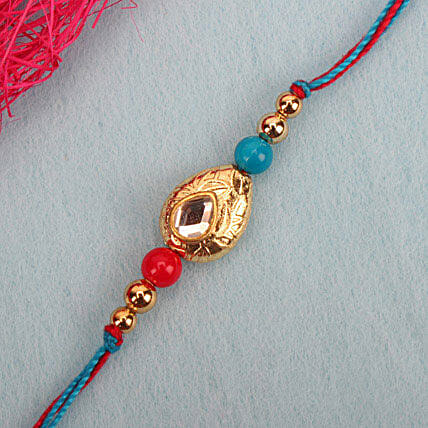 Perfection Kundan Rakhi RUS