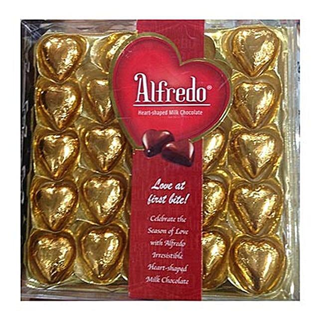 Heart Shaped Alfredo Milk Chocolates