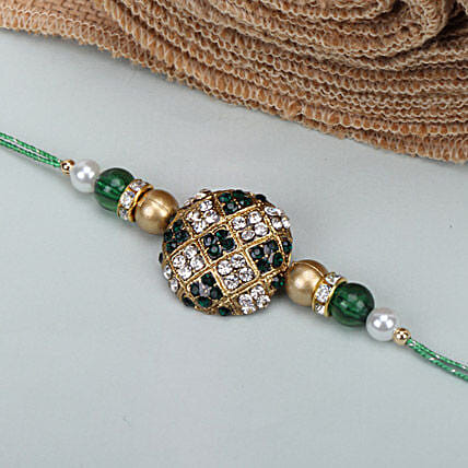 Green Stone Rakhi SRI